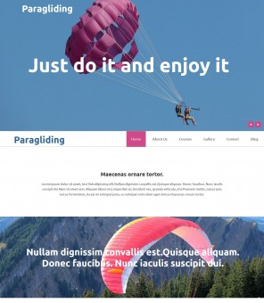 Paragliding - Best Joomla Template for Paragliding Academy