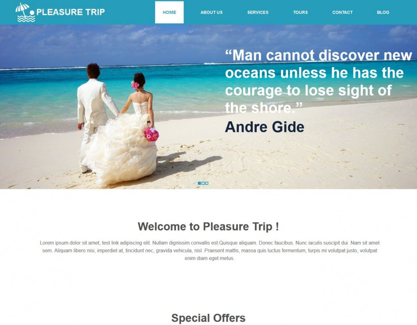 Pleasure Trip - Responsive Joomla Template for Travel Agency