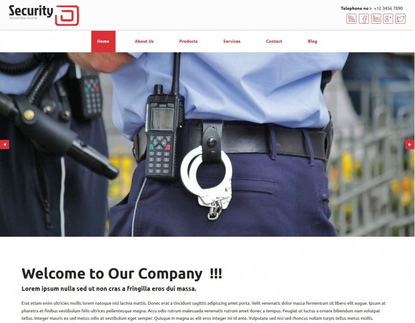 Professional Security Joomla Template For Security Providers