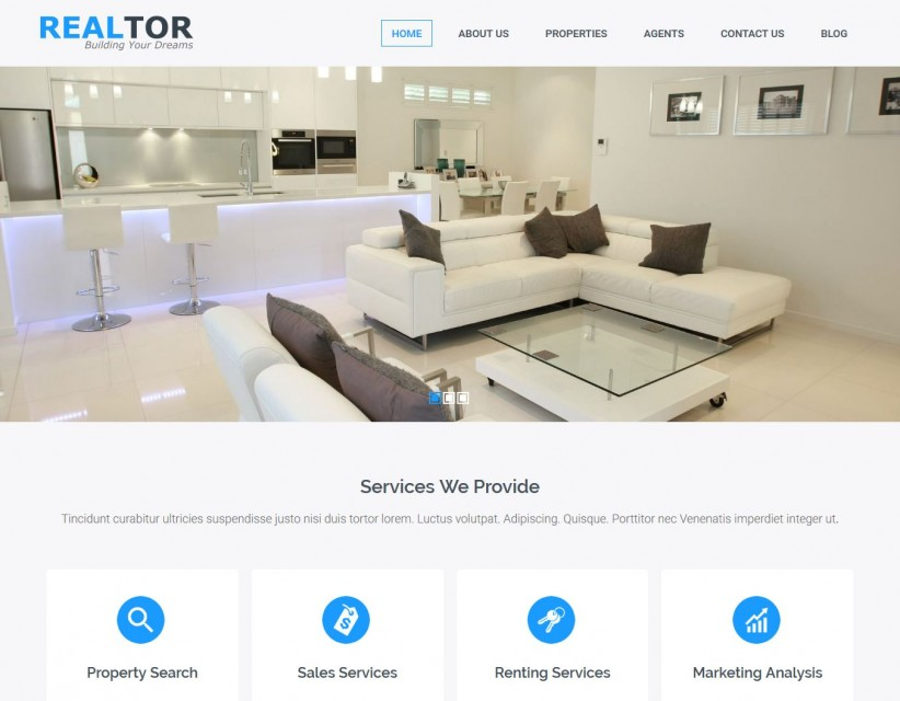Realtor - Real Estate Responsive Joomla Template