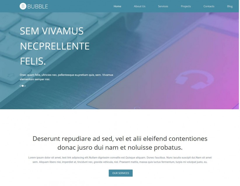 Bubble - Premium Drupal Theme for Web Design
