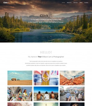 ClickIT - Drupal Theme for Photography Agencies