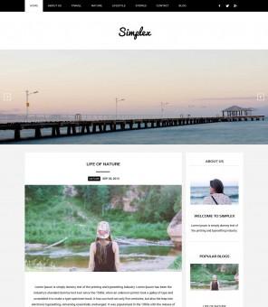 Simplex - Responsive Drupal Theme for Blog