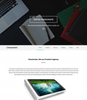 Passionate - Creative Drupal Theme for Web Design Agency