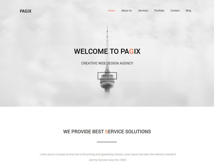 Pagix - Responsive Drupal Theme For Web Design Company