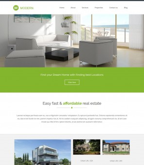 Modern - Beautiful Drupal Theme for Real Estate Business