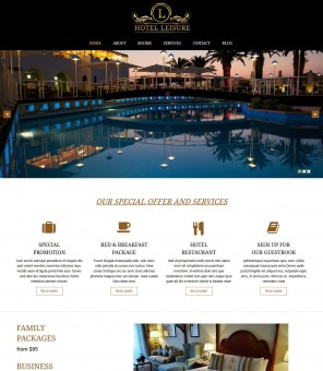 Leisure - Attractive Drupal Theme For Hotel and Restaurant