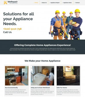 WeRepair - Feature Rich Theme for Applaince Repair Services Businesses