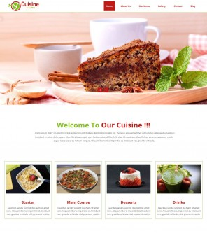 Cuisine Cafe - Restaurant and Cafe Drupal Theme