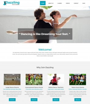 Dazzling Dance Academy - Creative Drupal Theme for Dance Academy