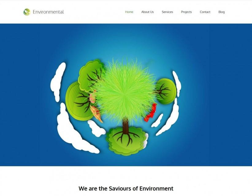 environmental responsive environment nature drupal theme