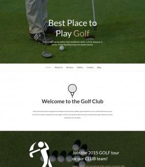 Golf - Golf Academy/Club Drupal Theme