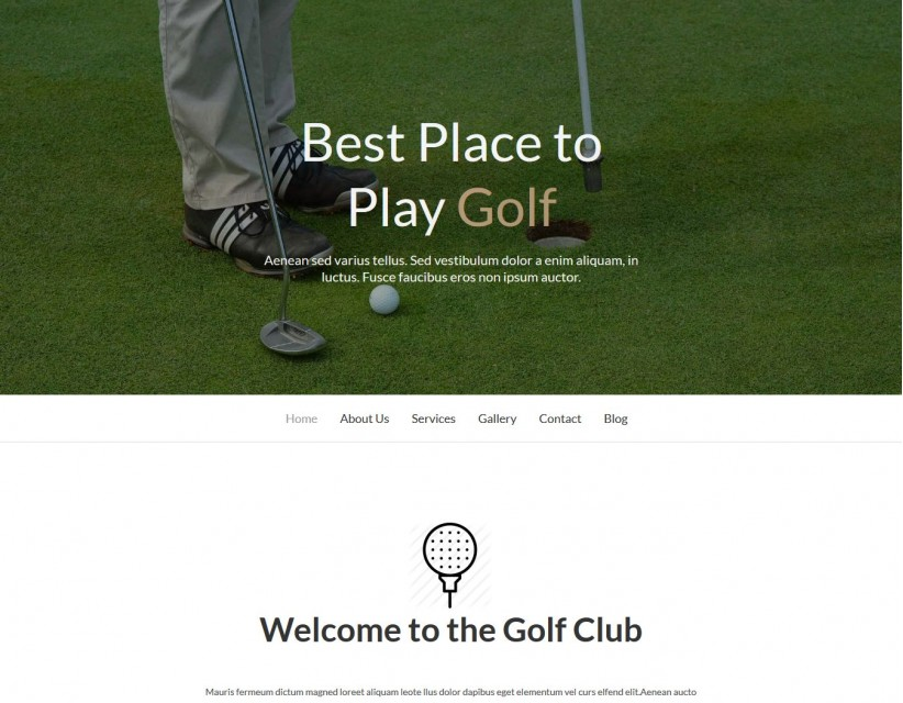 Golf - Golf Academy/Club Drupal Theme