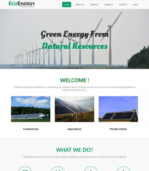 Eco Energy - Eco Friendly/Green Energy Drupal Theme