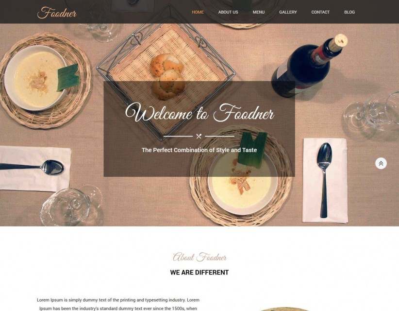 Foodner - Delightful Hotels And Restaurants Drupal Theme