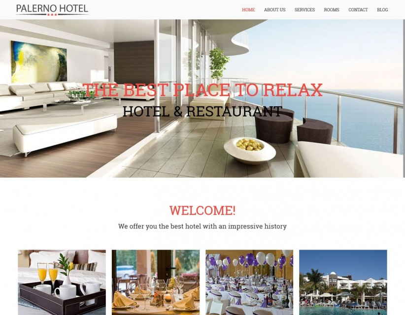 Hotel Palerno - Drupal Theme For Hotel Business