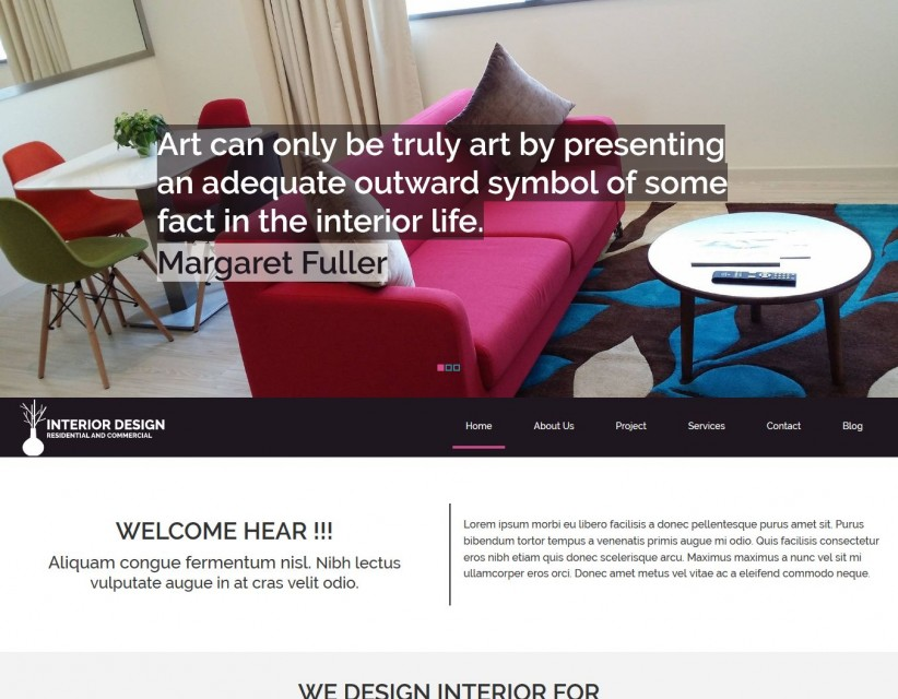 Interior Designing - Modern Interior Designing Drupal Theme