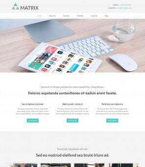 Matrix - Drupal Theme for Web Design/Studio Company