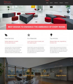 Decore - Interior and Furniture Drupal Theme