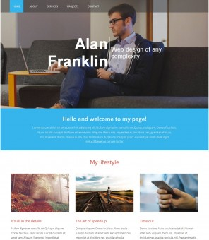 Designer Portfolio - Responsive Drupal Personal Portfolio Theme