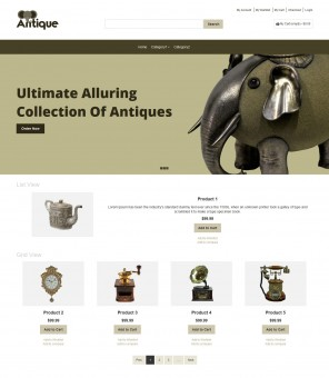 Antique - Antique Products Responsive Magento Theme