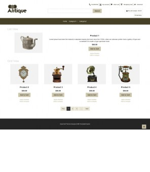 Antique - Antique Products OpenCart Responsive Theme