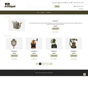 Antique - Antique Products OpenCart Responsive Theme