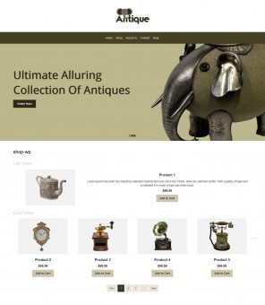 Antique - Antique Products WooCommerce Responsive Theme