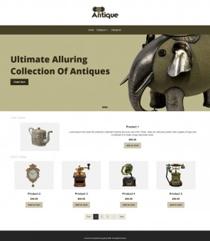 Antique - Antique Products VirtueMart Responsive Template