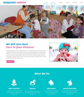 Babycare Center - Best WordPress Theme For Baby Care Taker