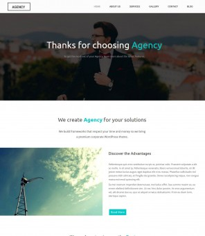 Agency - Creative and Simple WordPress Web Design Theme