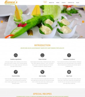 Bianca - The Feature Rich Hotel And Restaurant Business Joomla Template