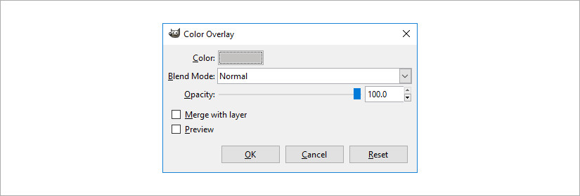 gimp layer effects plugin Color Overlay screenshot