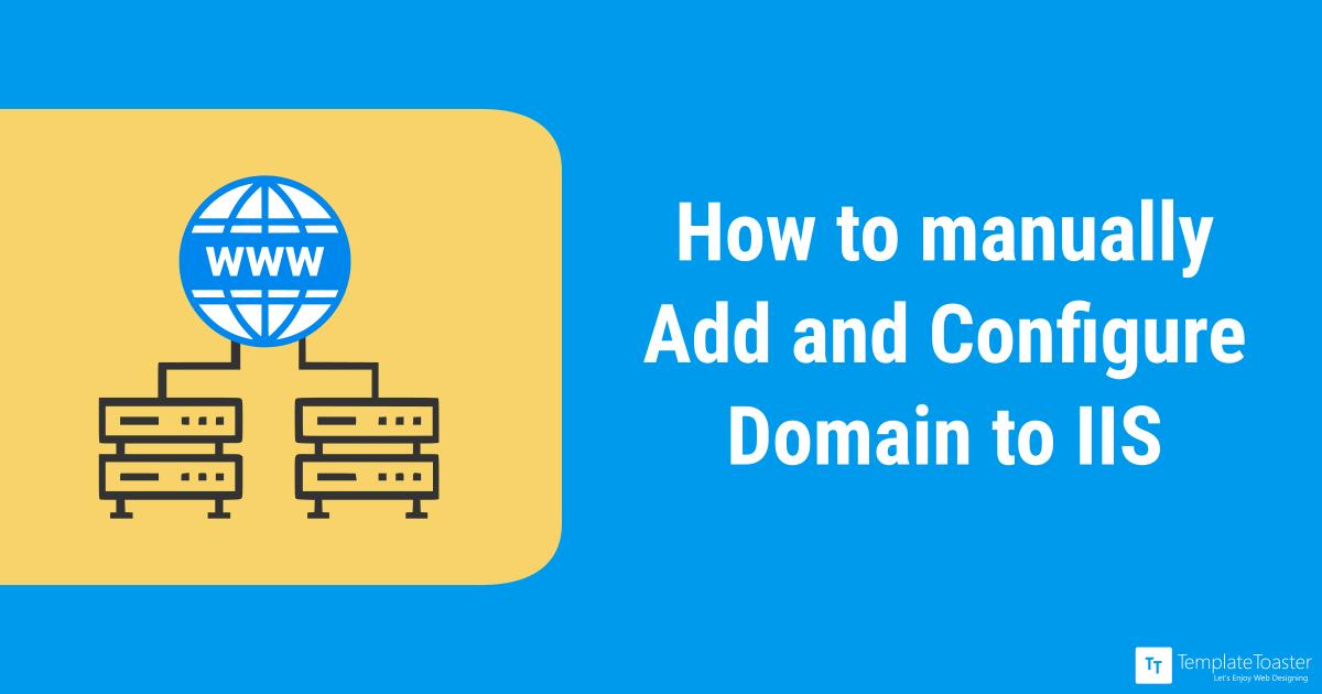 Windows Server (2012) IIS - Set Domain Name Manually