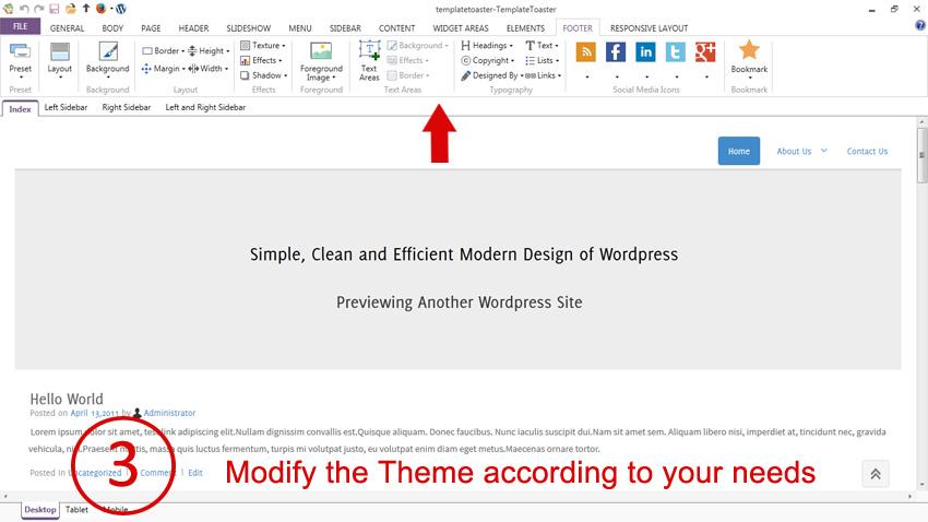 wordpress template folder - free wordpress theme