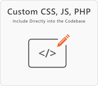 Custom CSS, JS and PHP