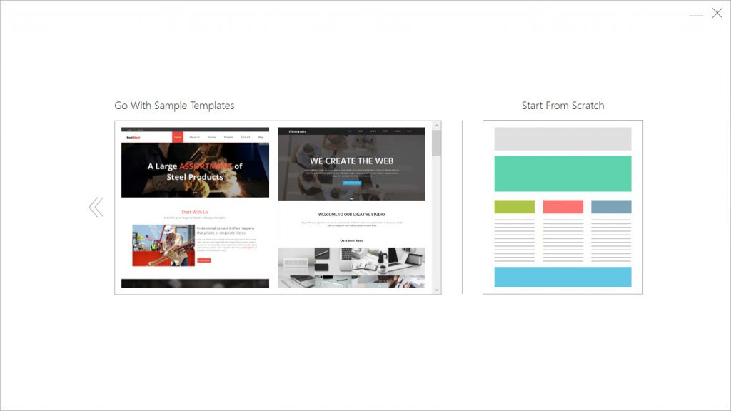 start from scratch or modify a pre designed template in templatetoaster