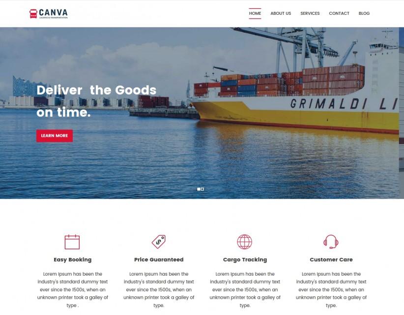 canva-logistics-wordpress-theme