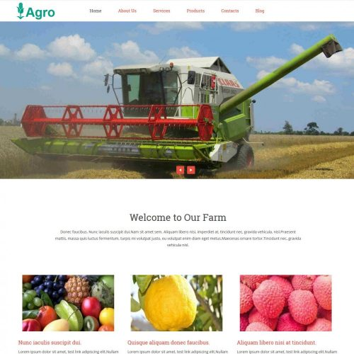 Agro free wordPress theme for farms and agriculture