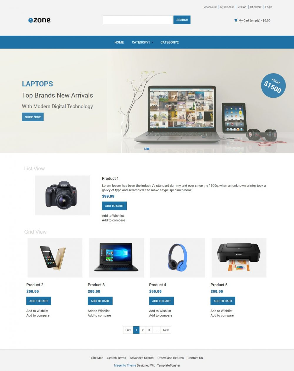 Ezone Electronic Shop Magento Theme