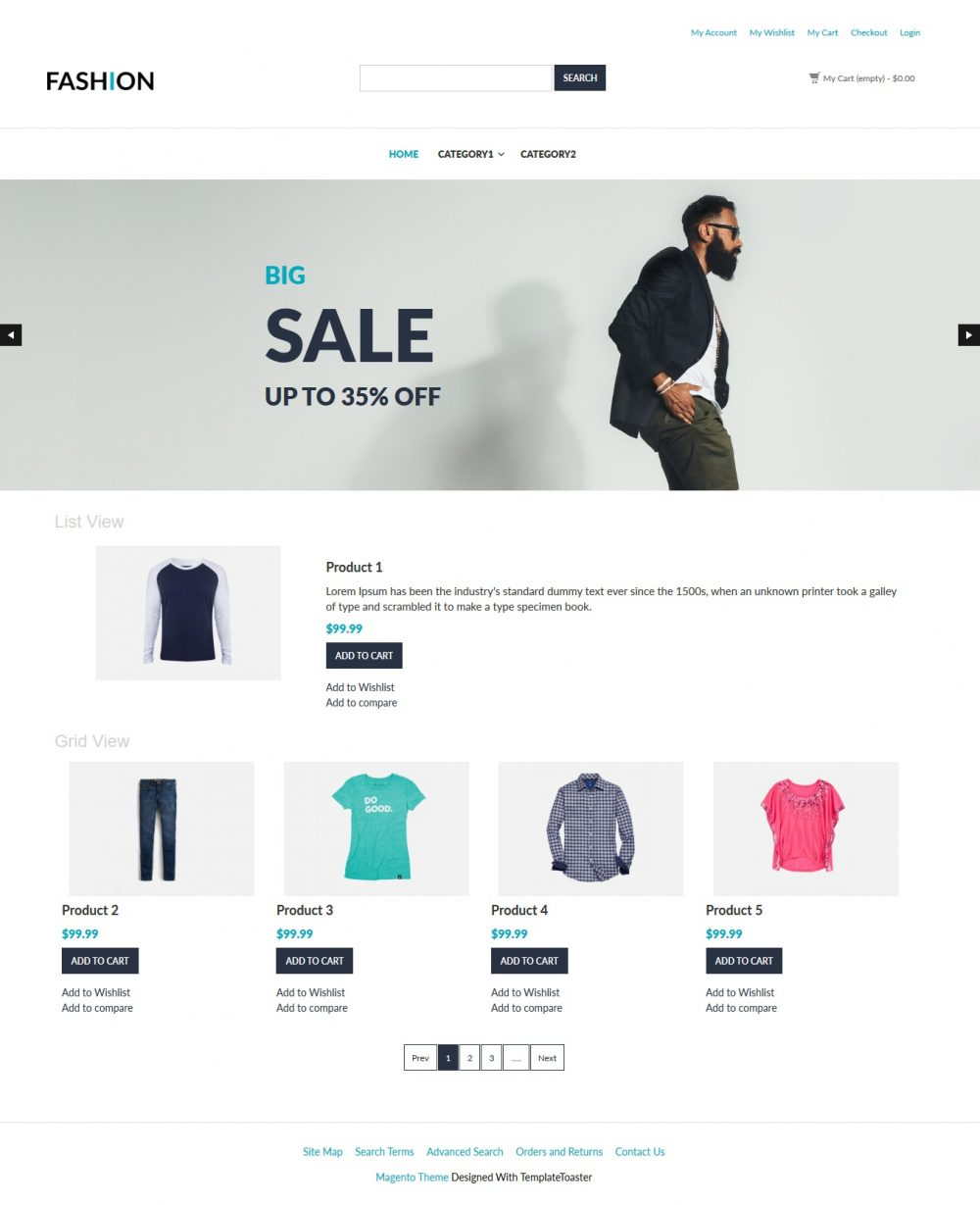 Fashion Clothing Shop Magento Theme