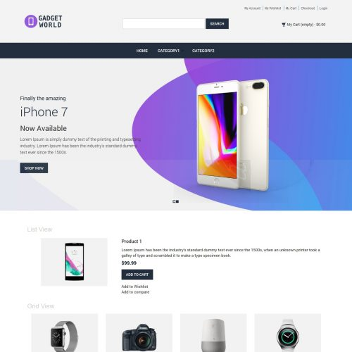 Gadget Shop Magento Theme