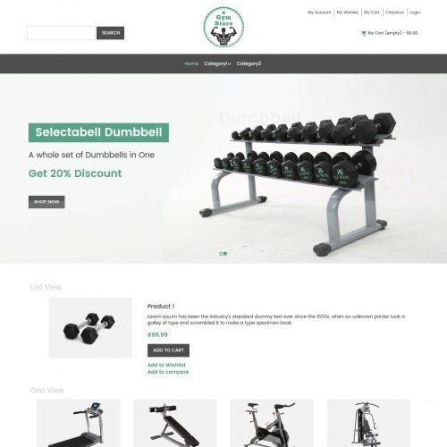 Gym Store Fitness Equipment Shop Magento Theme