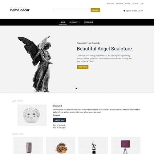 Home Decor Interior Products Magento Theme