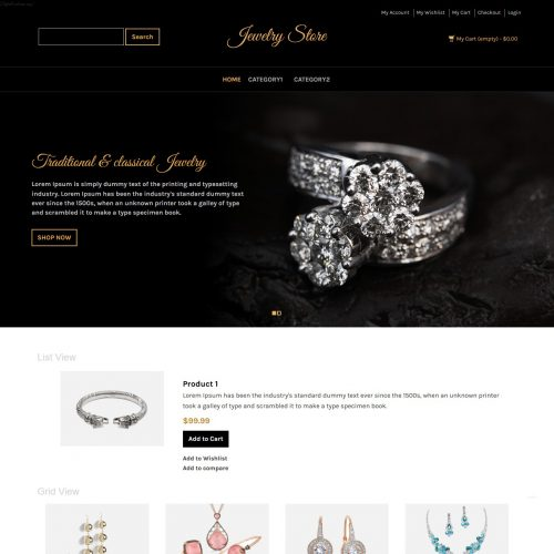 Jewellery Store Magento Theme