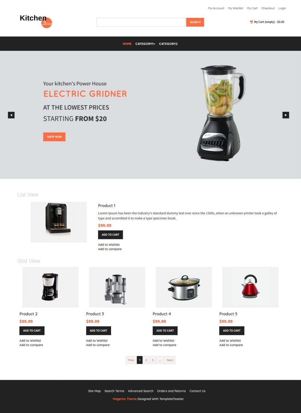 Kitchen Store Magento Theme