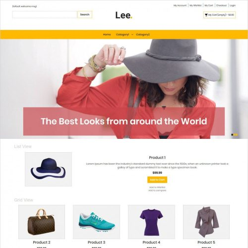 Lee clothing store magento theme