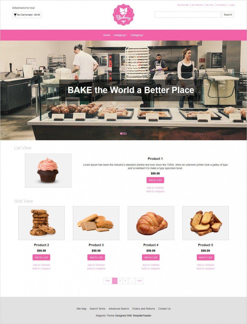bakery magento theme