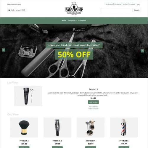 barber shop magento theme
