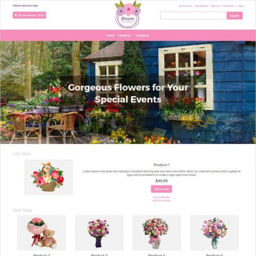 bloom florist magento theme